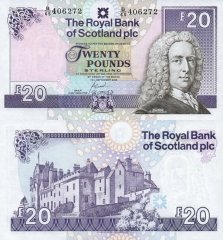 Scotland 20 Pounds Sterling Banknote, 2006, P-354d.2
