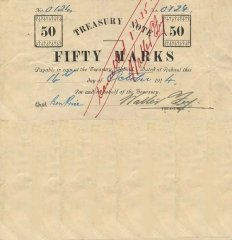German New Guinea 50 Marks Banknote, 1915, P-4b
