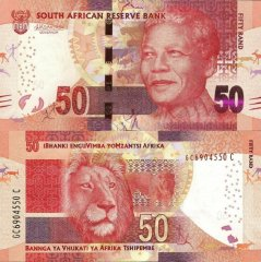 South Africa 50 Rand Banknote, 2015, P-140b