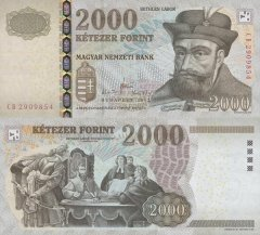 Hungary 2,000 Forint Banknote, 2013, P-198d
