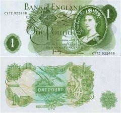 Great Britain/England 1 Pound Banknote, 1970, P-374g