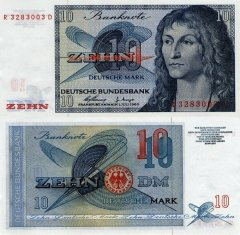 Germany/Federal Republic 10 Deutsche Mark Banknote, 1960, P-29 B