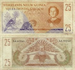 25 Gulden Netherlands New Guinea's Banknote