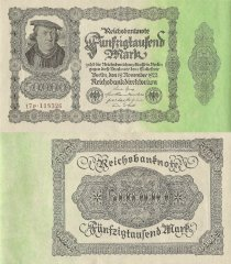 Germany 50,000 Mark Banknote, 1922, P-79.4