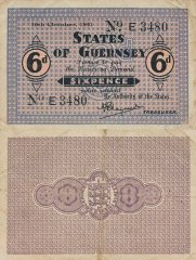 Guernsey 6 Pence Banknote, 1941, P-22