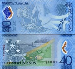 Solomon Islands 40 Dollars Banknote, 2018, P-37a