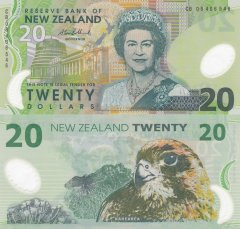 New Zealand 20 Dollars Banknote, 2008, P-187b.4