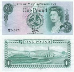 1 Pound - Tyvek Isle of Man's Banknote