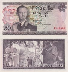 50 Francs Luxembourg's Banknote