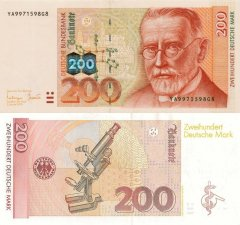 Germany/Federal Republic 200 Mark Banknote, 1996, P-47r