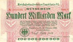100 Billion Mark Germany/Notgeld's Banknote