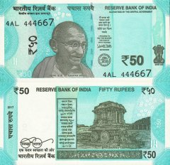 50 Rupees India's Banknote