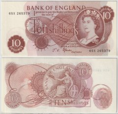 Great Britain/England 10 Shillings Banknote, 1966, P-373c
