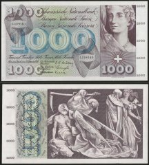 1000 franken Switzerland's Banknote