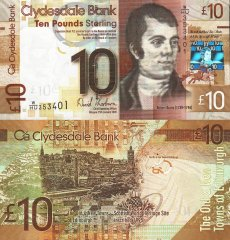 10 Pounds Scotland's Banknote