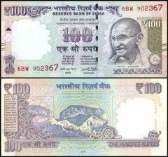 100 Rupee India's Banknote