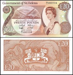 St. Helena 20 Pounds Banknote, 1986, P-10a