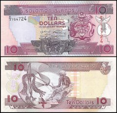 Solomon Islands 10 Dollars Banknote, 2008, P-27b