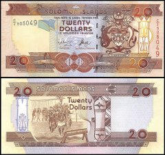 Solomon Islands 20 Dollars Banknote, 2006, P-28