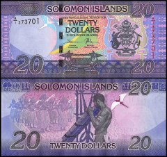 Solomon Islands 20 Dollars Banknote, 2017, P-UNLISTED