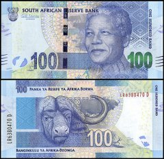 South Africa 100 Rand Banknote, 2014, P-141a