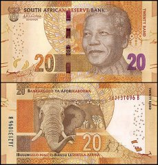 South Africa 20 Rands Banknote, 2015, P-139