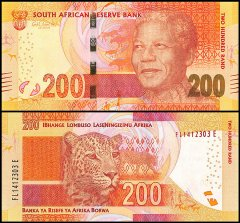 South Africa 200 Rand Banknote, 2013, P-142