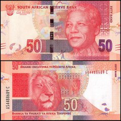 South Africa 50 Rand Banknote, 2012, P-135