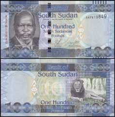 South Sudan 100 Pounds Banknote, 2011, P-10