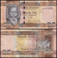 South Sudan 25 Pounds Banknote, 2011, P-8