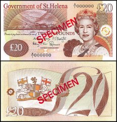 St. Helena 20 Pounds Banknote, 2012, P-13s