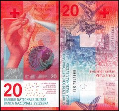 Switzerland 20 Franken Banknote, 2017, P-76
