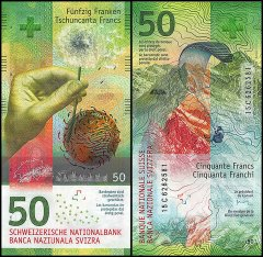 Switzerland 50 Francs Banknote, 2015, P-77a