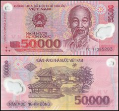 50,000 Dong Vietnam's Banknote