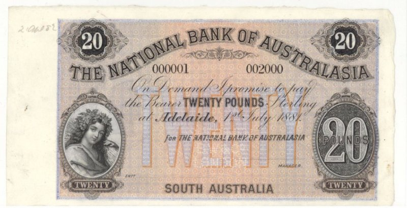 Australia 25 Pounds Banknote, 1881, P-UNLISTED