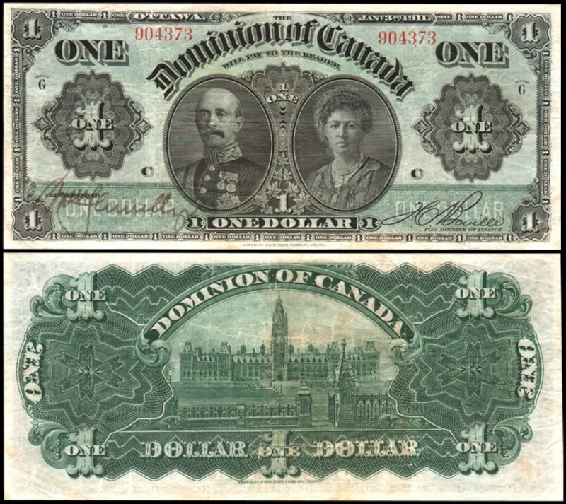 Canada 1 Dollar Banknote, 1911, P-27a