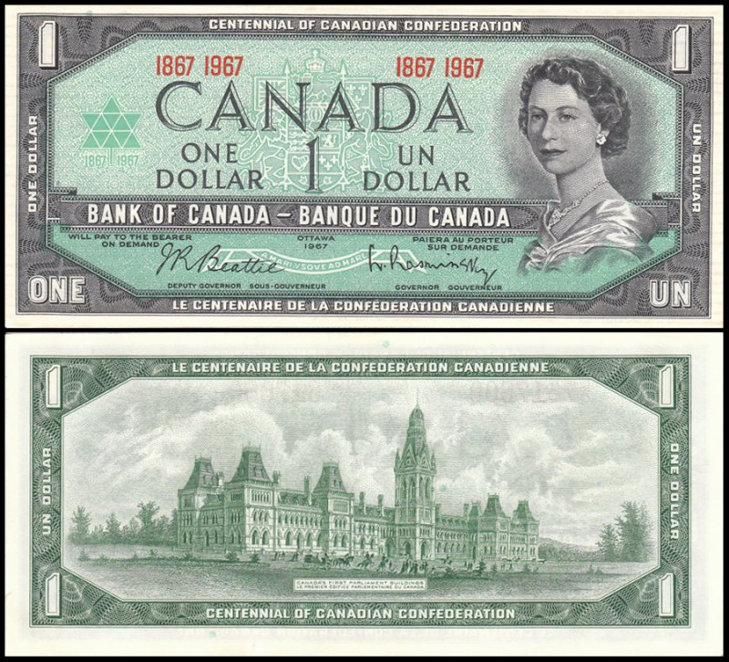 Canada 1 Dollar Banknote, 1967, P-84a