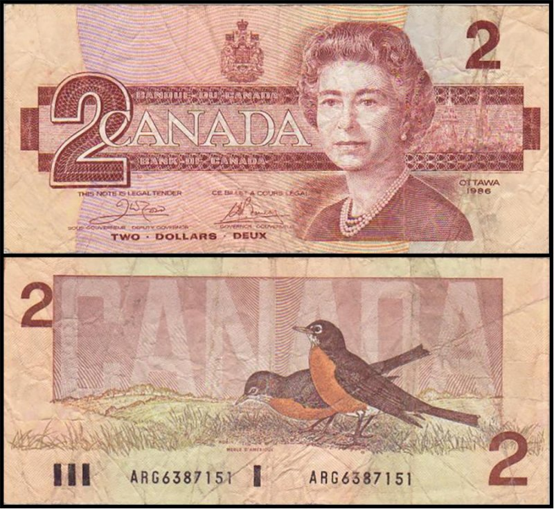 Canada 2 Dollars Banknote, 1986, P-94a