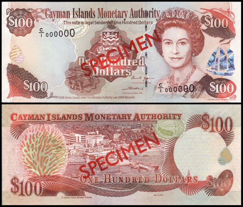 Cayman Islands 100 Dollars, 2006, P-37s