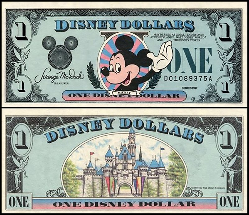 Fantasy Issues 1 Disney Dollar, 1989, P-US203