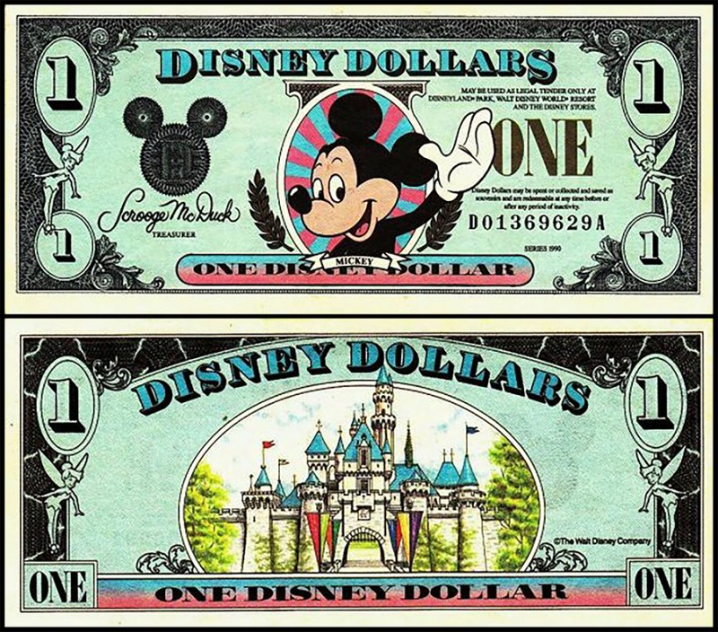 Fantasy Issues 1 Disney Dollar, 1990, P-US324