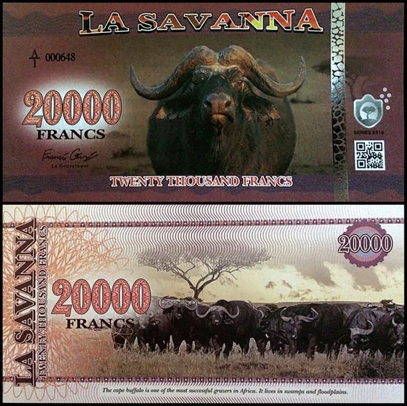 Fantasy Issues 20,000 Francs (Buffalo), 2016, P-Sav-008