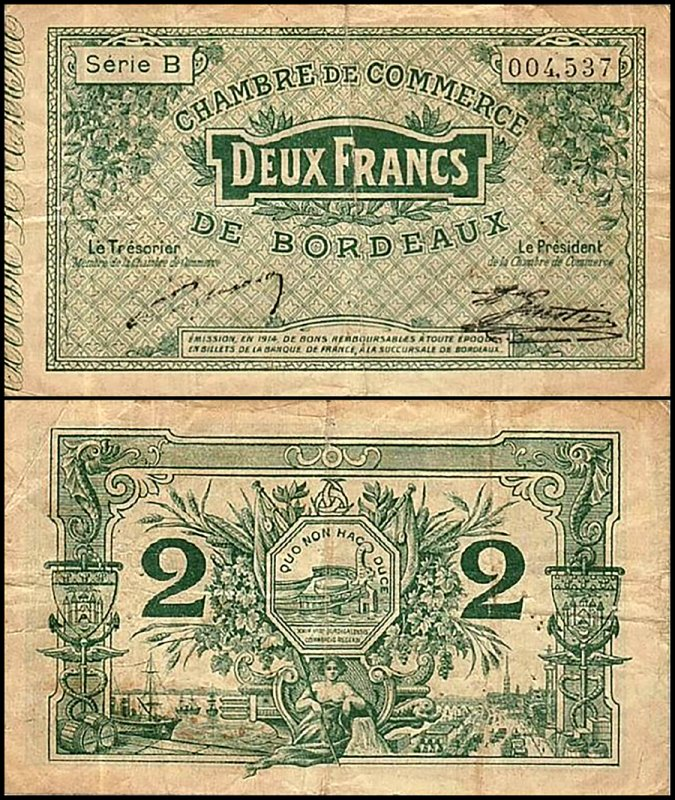 France 2 Francs, 1914, P-Jea:P-JP-030-03