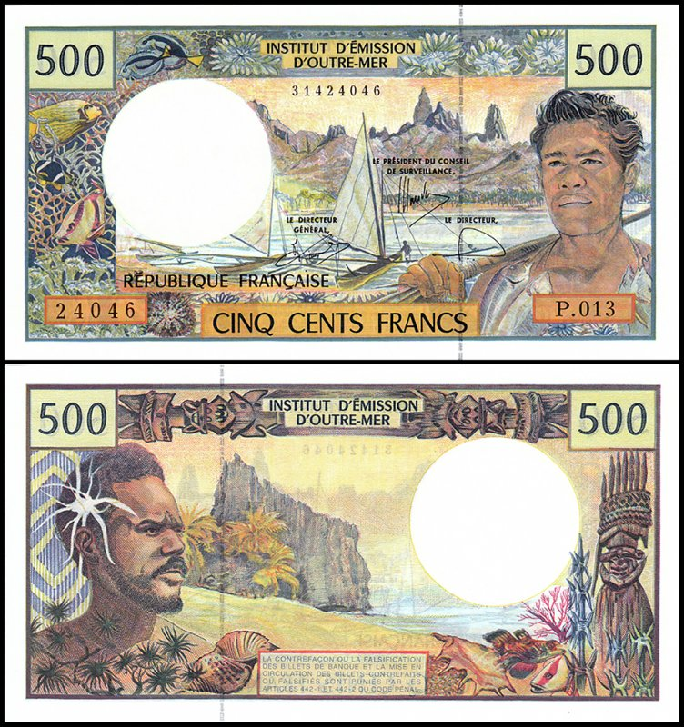 French Pacific Territories 500 Francs, 1992, P-1