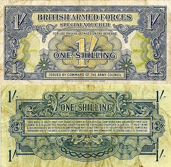 Great Britain/England 1 Shilling Banknote, 1946, P-M11