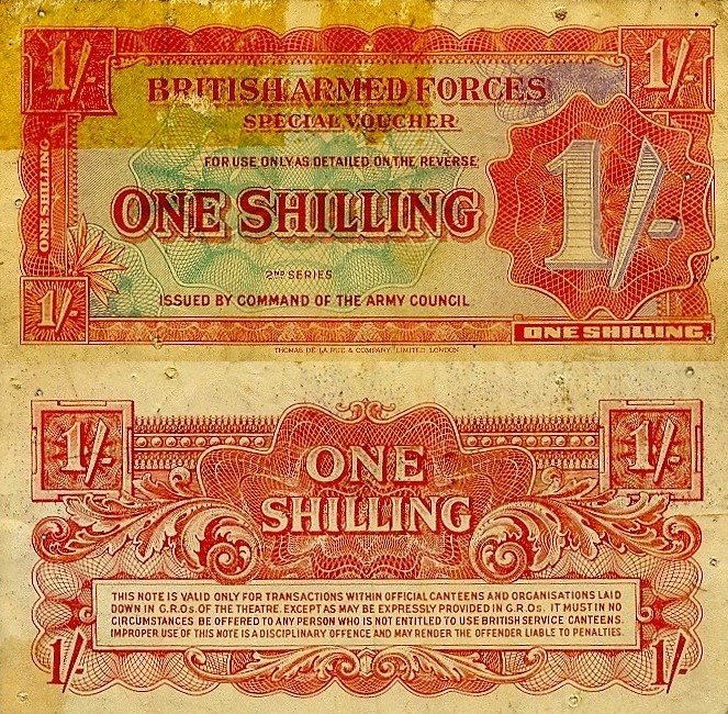 1 Shilling Great Britain/England's Banknote