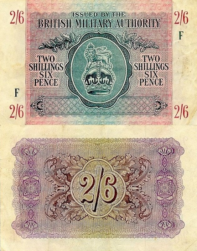 Great Britain/England 2 Shillings Banknote, 1943, P-M3