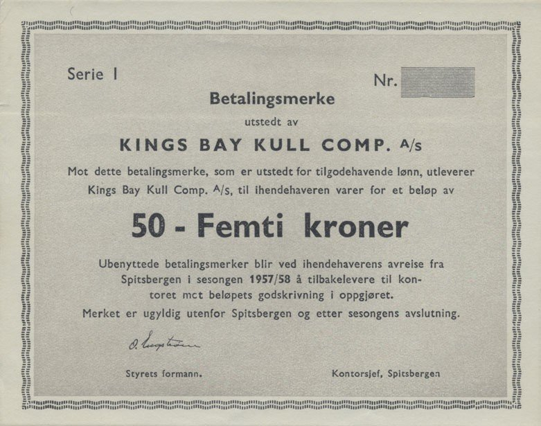 Norway 50 Kroner Banknote, 1957, P-UNLISTED