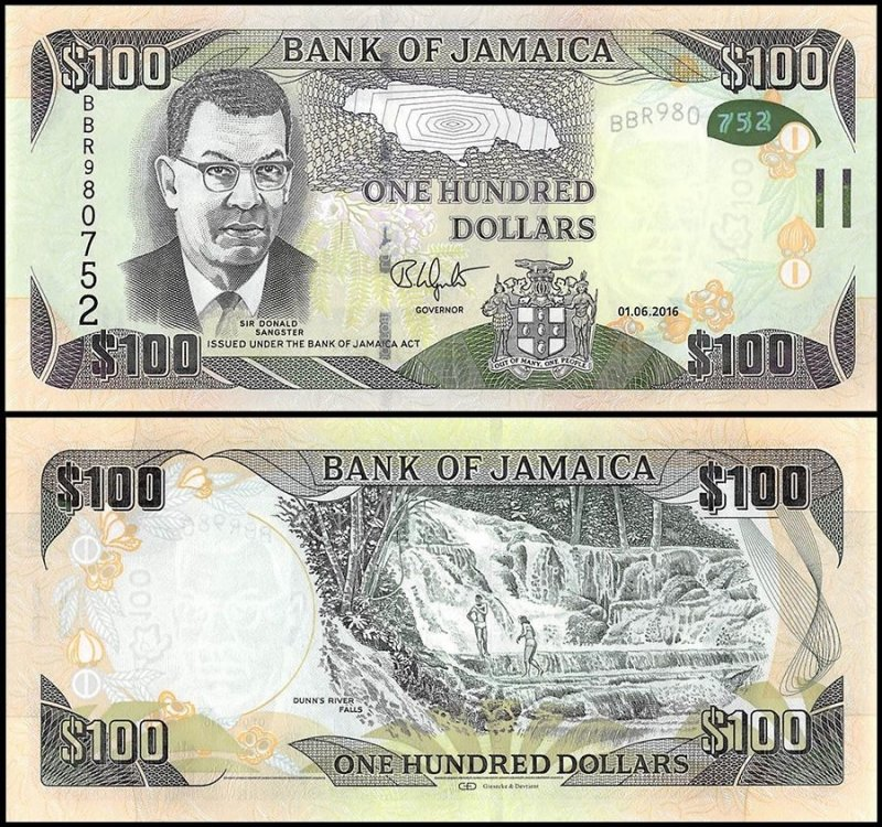 Jamaica 100 Dollars Banknote, 2016, P-UNLISTED
