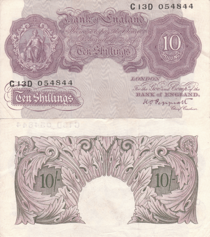 Great Britain/England 10 Schillings Banknote, 1948, P-368a